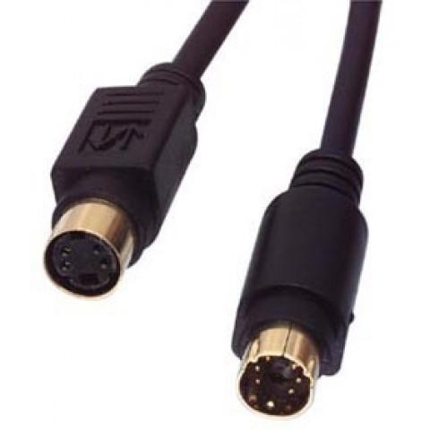 SVHS Plug to SVHS Socket Gold 2m