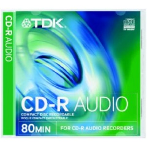 TDK CD-R for Audio Recorders 10 Pack Jewel Cased