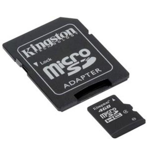 Kingston 4GB Micro SD HC With Adaptor Flash Card