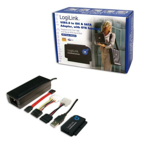 LogiLink USB 2 0 to IDE & SATA Cable with PSU - USB Products