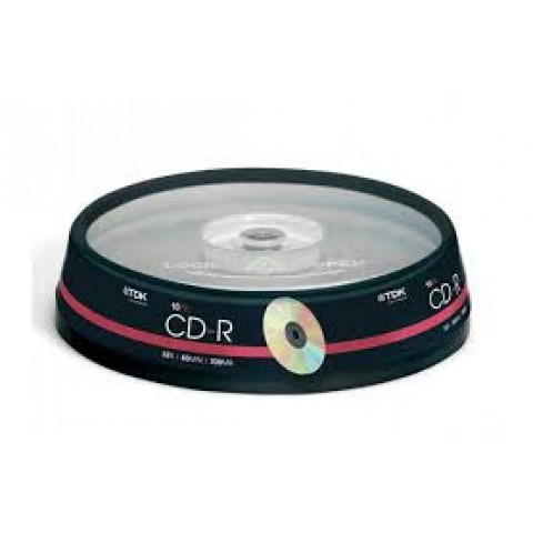 TDK CD-R Pack of 10 on a Spindle