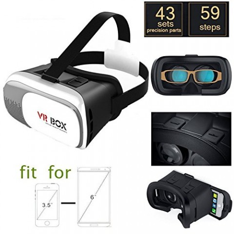 VIRTUAL REALITY 3D VR BOX MOVIES AND GAME WITH 4-6 INCHES IPHONE ANDROID SMARTPHONES