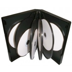 8 Way DVD Cases Black ( 50Pc in a Box )