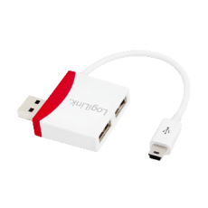 LogiLink USB 2.0 2port Hub with Mini USB Cable