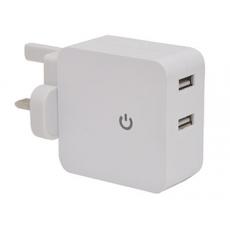 USB 2100mA x 2Port Mains Plug