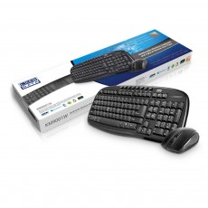 Wireless 2.4Ghz Multimedia Keyboard & 3 Button Mouse for PC