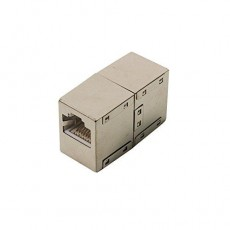 CAT5e Modular Coupling, 1:1 2x RJ45 Shielded Sockets Metal Housing