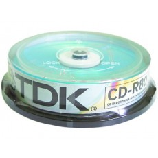 TDK CD-R for Audio Recorders 10 Pack Tub