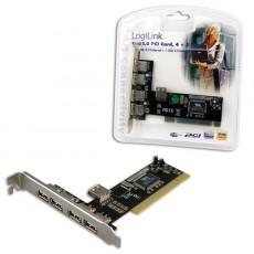 LogiLink USB 2.0 PCI  Add-on Card 4+1 Port