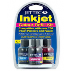 Jettec Colours Inkjet Refill Kit 3x30ml+1x30ml Flush