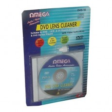 Omega Wet & Dry CD / DVD Lens Cleaner with Cleaning Fluid