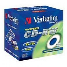 Verbatim CD-RW 8x-12x 10 Pack Jewel Cased
