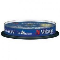Verbatim DVD+RW 4x - 10 in Tub