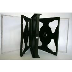 Six Way CD Jewel Cases Black