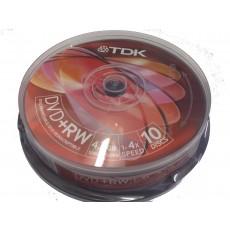 TDK DVD+RW 4x - 10 in Tub