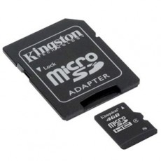 Kingston 4GB Micro SD HC With Adaptor Flash Card