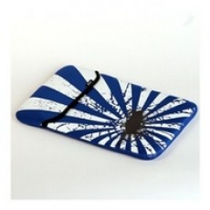 JIVO BLUE & WHITE PRINTED SNUGGLI LAPTOP / IPAD SLEEVE 10'' - MACBOOK