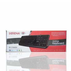 Serena Multimedia USB Plug and Play Black Keyboard SR-2106KBC